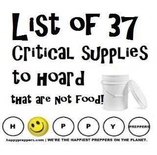 List of the 37 critical supplies to hoard that are NOT food! http://happypreppers.com/37-non-food-items-to-hoard.html