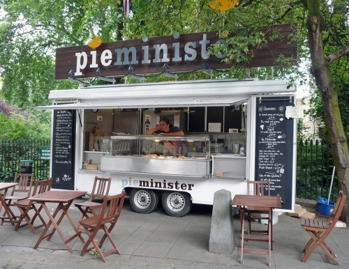 Pieminister, mobile shop, UK.....I would love to do this......maybe some day. Great name too!