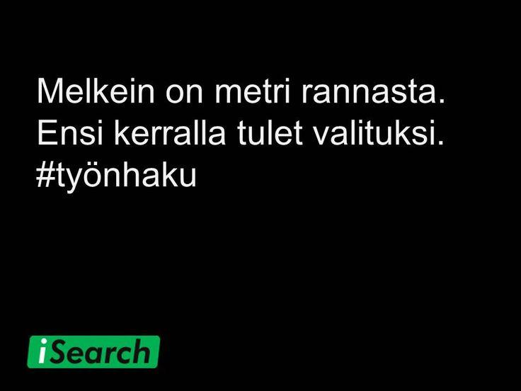 #työnhaku #sisu