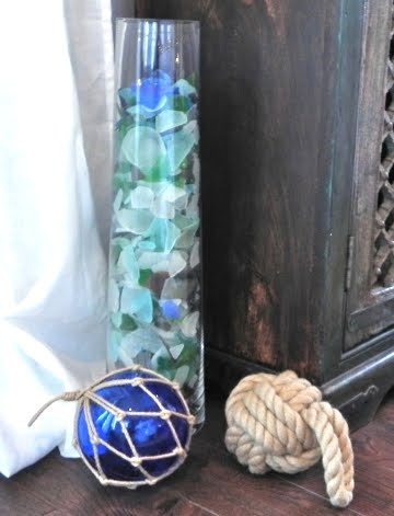 Wonderful Sea Glass Decor