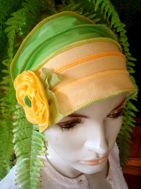 Womens Lemon Gold Hat Beanie Chemo Hat Soft by GypsyLoveHeadbands, $48.00