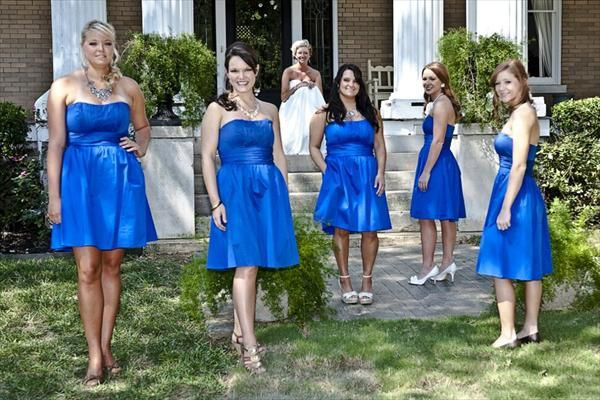 The girls dresses! Color and all! Davids Bridal Horizon Blue. - My ...