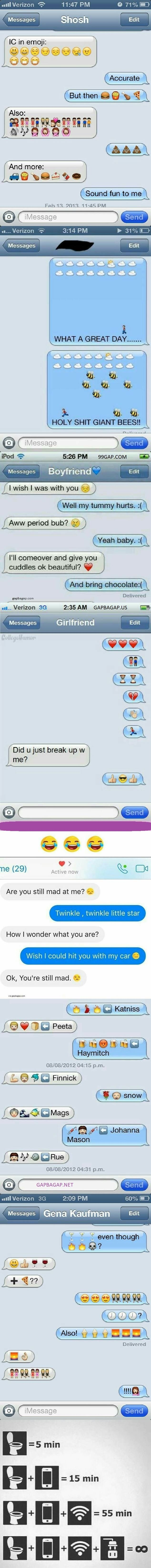 Funny Emoji Text Messages From Around The World