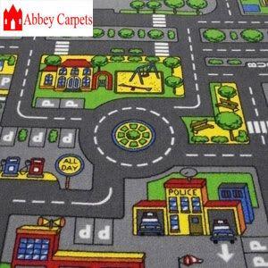 childrens road rug play mat toy car roadway large matchbox kids hot wheels mat