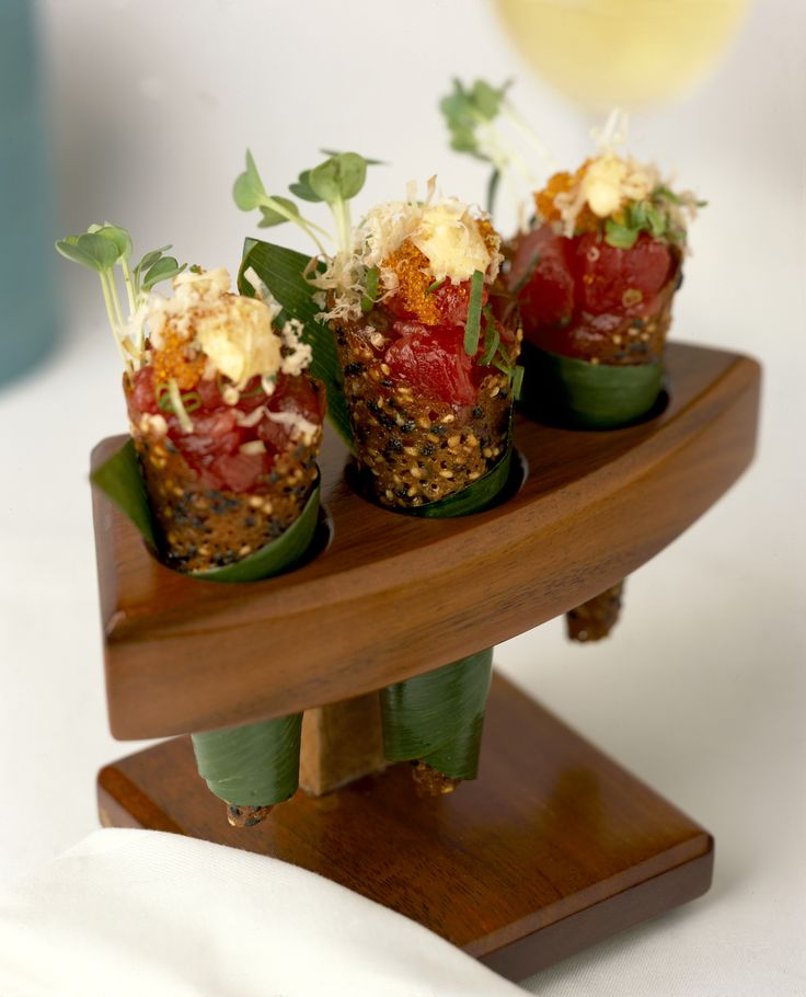 Spicy Tuna Tartare in a Sesame Miso Cone from Wolfgang Puck