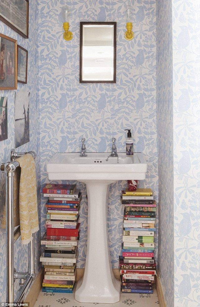 The Wallpaper In The Downstairs Bathroom Was Designed By Molly And Her  Mother. The Yellow