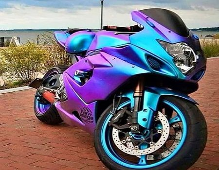 Motorcycle Wrap Material Iridescent Sport Motorcycle