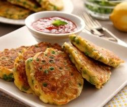 Pea, Mint and Feta Fritters #valentinesday