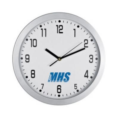 Image of Promotional Crisma Wall clock In White. Printed Wall Clock Available In Various Colours.
