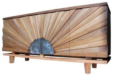Spectacular Sunburst Front Sideboard - modern - buffets and sideboards - EcoFirstArt