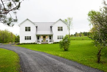 White roof white house