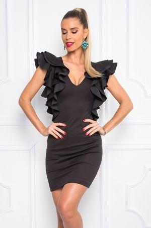 Čierne puzdrové šaty bez rukávov, s