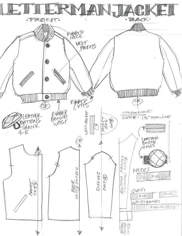 leather jacket sewing pattern - Google Search