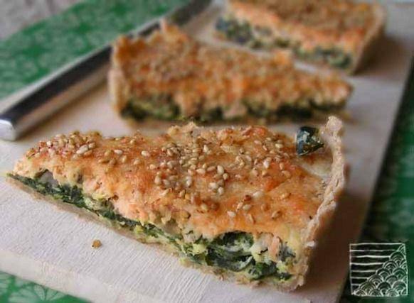 Recette - Tarte au saumon et algue wakamé   750g
