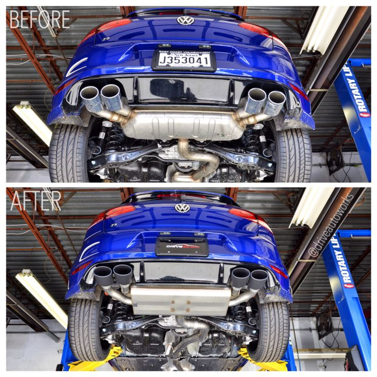 Performance Sport Exhaust For Vw Golf Vii R: The #golf #r Getting Some Much Need #exhaust Swap