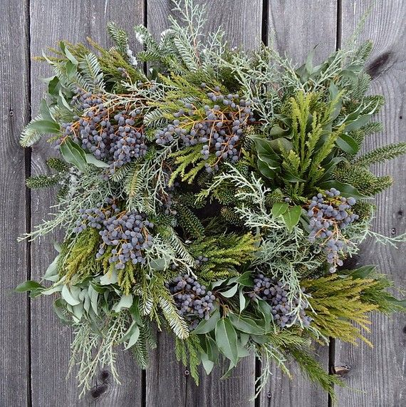 18 Winter Glow Square Wreath by solidagowreaths on Etsy, $40.00