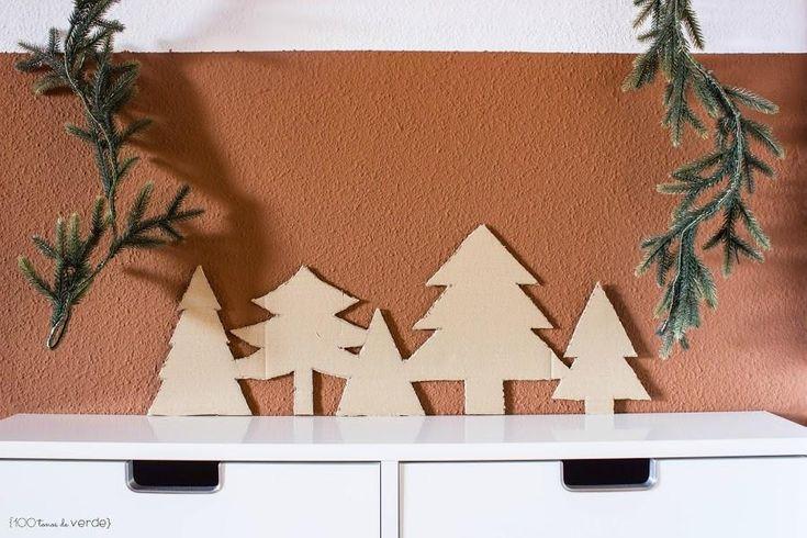 En Navidad decoramos hasta el recibidor