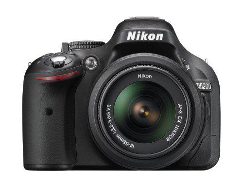 Nikon D5200 24.1 MP CMOS Digital SLR with 18-55mm f/3.5-5.6 AF-S DX VR NIKKOR Zoom Lens (Black) (Discontinued by Manufacturer), 2016 Amazon Top Rated DSLR Cameras  #Photography