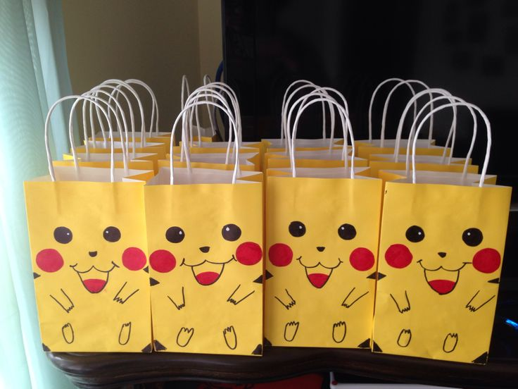 Pokemon picachu goodie bags