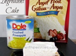 Pinapple Angel Food Cake! Only 2 Ingredients! Recipe