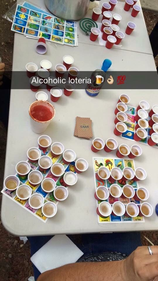 Loteria shots! To play after the game!