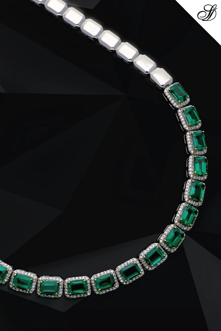 Let White Gold, Diamonds and Emeralds brighten your day. Explore our collection on www.sunnydiamonds.com #sunnydiamonds #originofbrilliance #internallyflawless #belgiumdiamonds