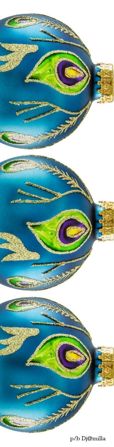 Peacock Christmas ornaments