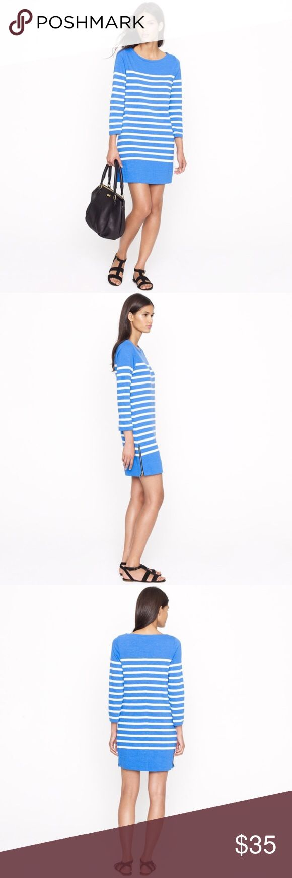 J. Crew Maritime Striped Dress Adorable blue and white striped Maritime dress with side gold zippers. Excellent condition, the perfect spring dress! 🛍Bundle 2 or more items for 20% off!! J. Crew Dresses