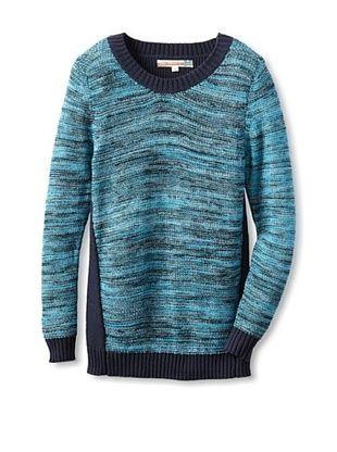 74% OFF Vintage Havana Girl's Multi Stripe Tunic Sweater (Royal)
