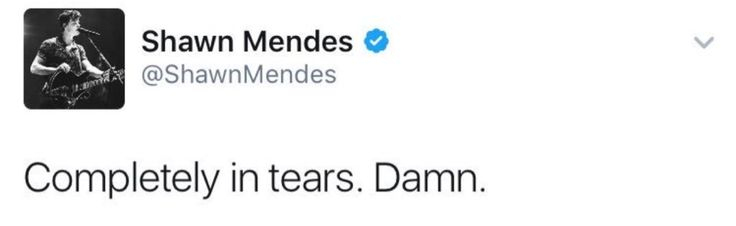 Shawn needs to stop deleting his tweets. Anyway, so sad that Shawn cried over the song.