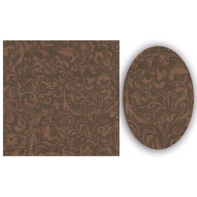 Tecido para Patchwork Estampado Arabesco Café (0,50x1,50m) - Fabricart