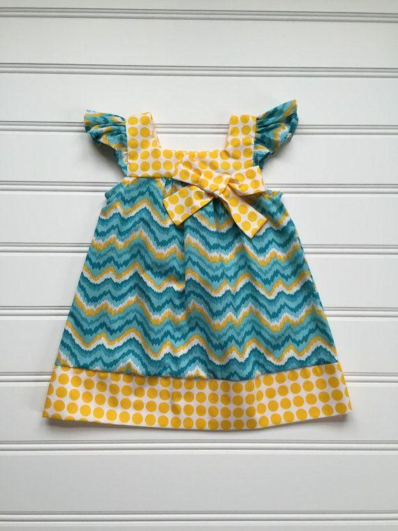 Girls Sundress Girl Toddler Chevron Dress by DiMaDaisyBoutique