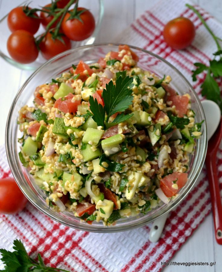 A refreshing summery salad:tabbouleh