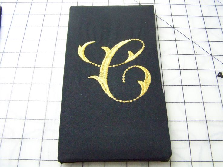 Monogramed book cover waiter book cover server book cover by FONZIEcoGIFTS on Etsy