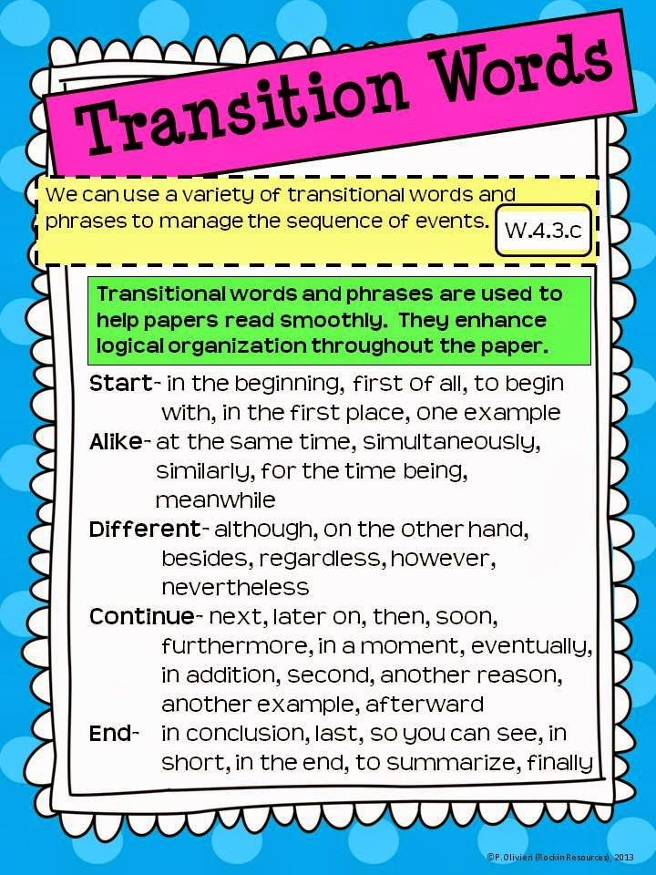The Best Ways to Teach Revising with Transition Words!