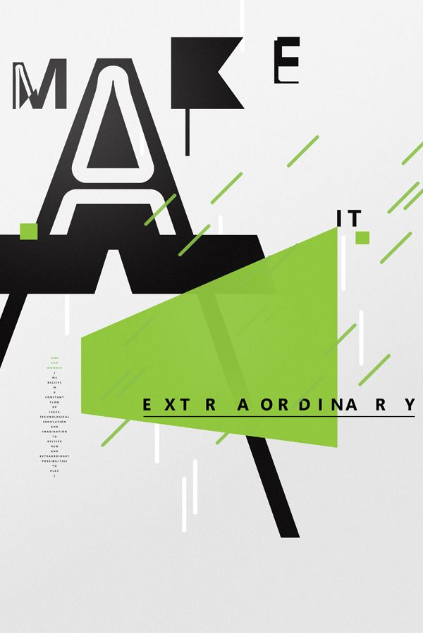 XBox posters by Non-Format, via Behance