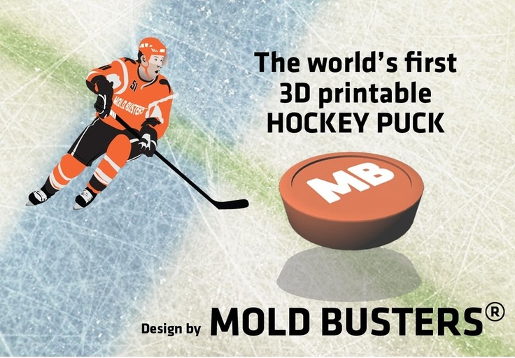 3D Printable Hockey Puck by Mold Busters by bustmold.