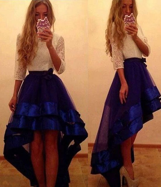 hi low prom dresses, prom dresses with sleeves