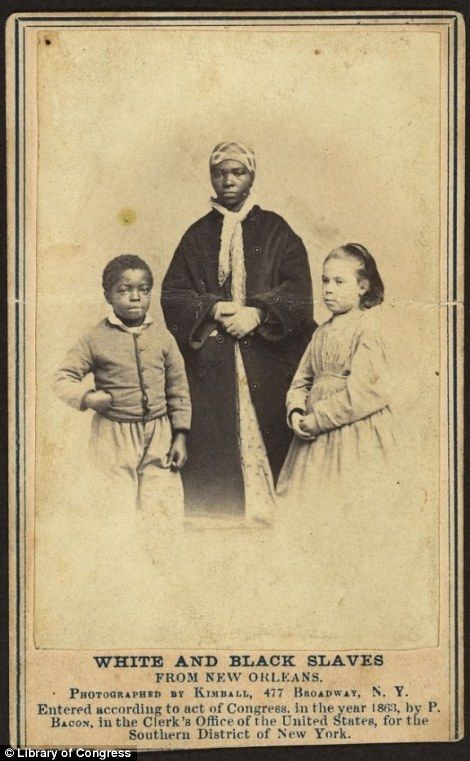 The 'white' slave children of New Orleans: Picture, African Americans, New Orleans, American History, Civil War, Emancipated Slaves, Black History, Photo