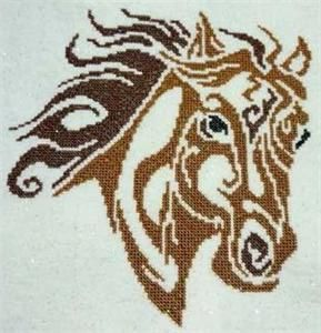 Tribal Horse Cross Stitch Pattern (257619) Embroidery Patterns by Cross Stitch Wonders