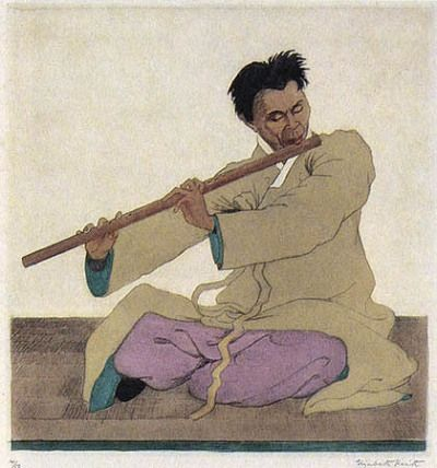 The Flute Player_1927 by Elizabeth Keith
