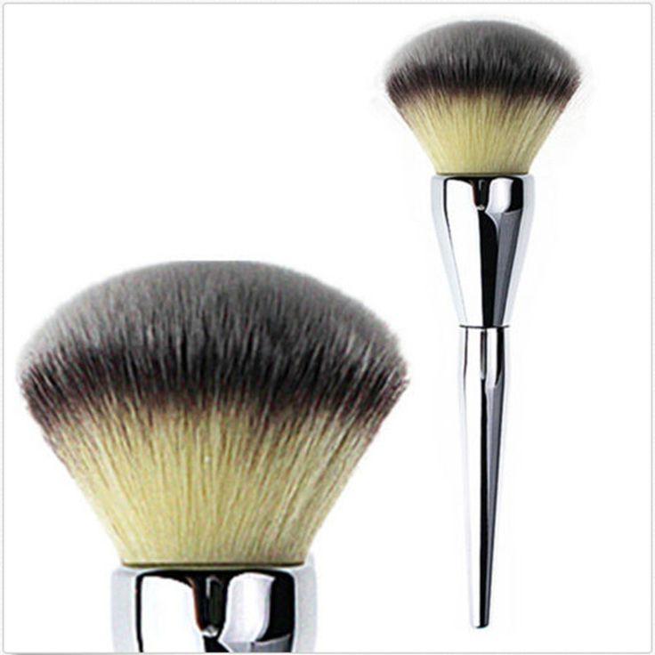 プロパウダーブラシ大きなミネラルルースパウダー化粧ブラシキットmaquiagem美容メイクアップ金属抗菌合成# s323