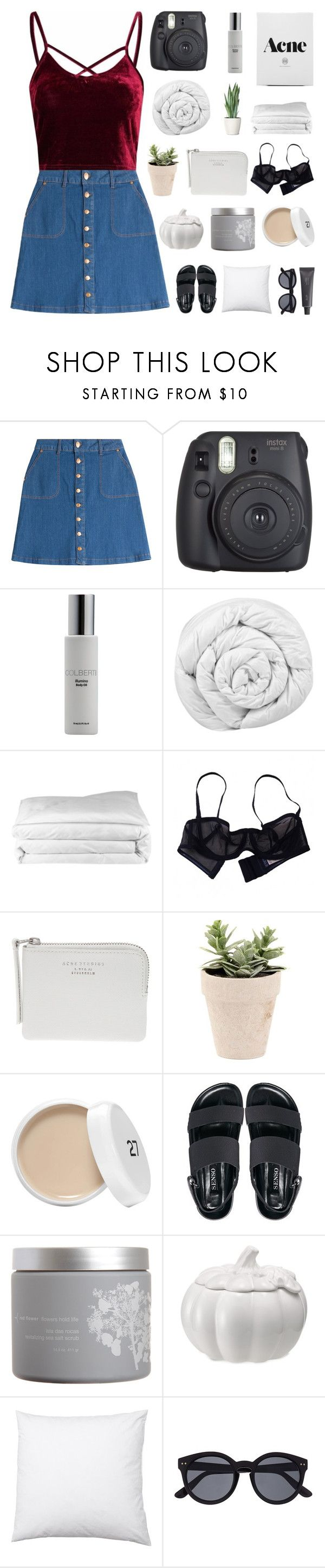 """""""SO IN LOVE THAT YOU ACT INSANE"""" by s-erene ❤ liked on Polyvore featuring HUGO, Fujifilm, Colbert MD, Brinkhaus, Frette, Eres, Acne Studios, Senso, red flower and Martha Stewart"""