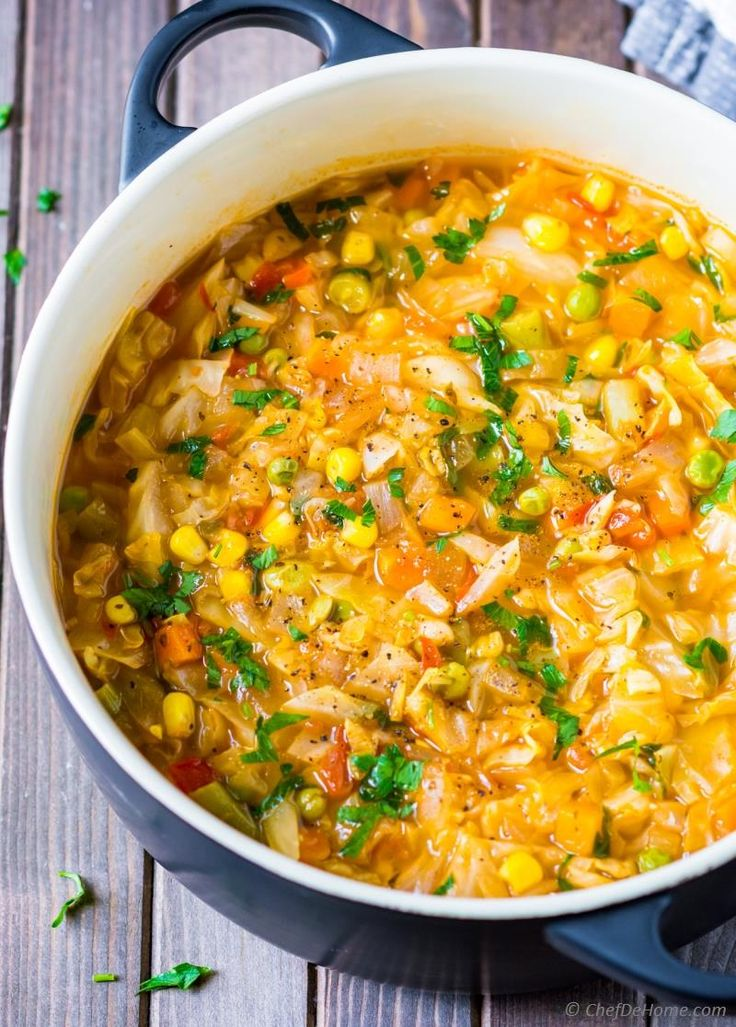 Vegetarian Cabbage Soup Recipe | ChefDeHome.com