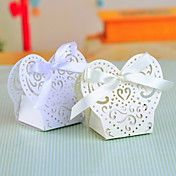 Pearl Paper Favor Box With Laser Cut Shell an... – USD $ 7.99