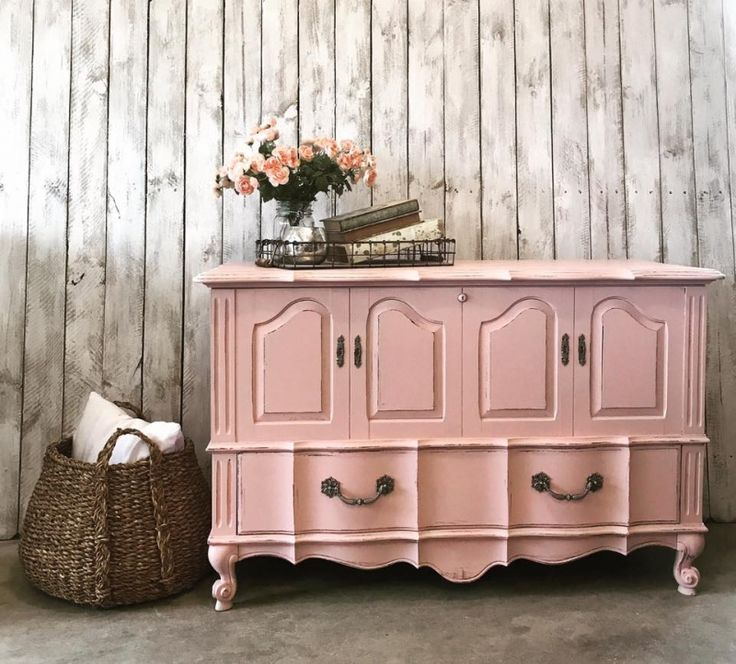 1078 best Pink & Coral Painted Furniture images on Pinterest | Chest ...