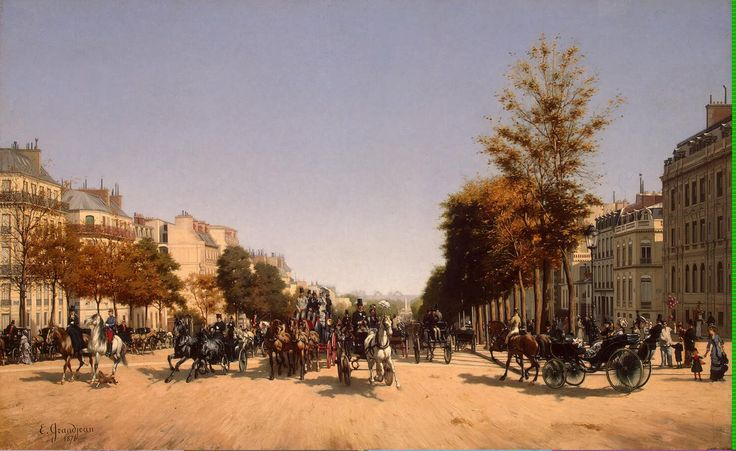 View of the Champs-Elysees from the Place de lEtoile in Paris 1878 by Georges Edmond   Grandjean