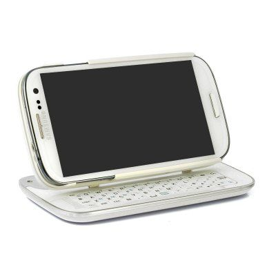 Wireless Slide-Out Bluetooth Keyboard with a Detachable Case has been specifically designed for the Samsung Galaxy S4 phone.