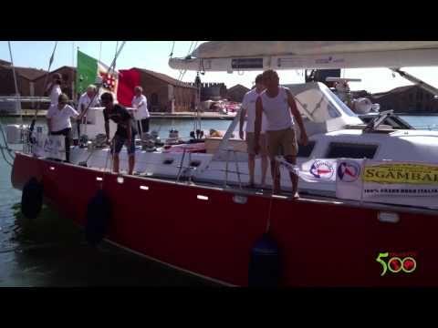 La partenza de giro del mondo di #Pigafetta500 - YouTube