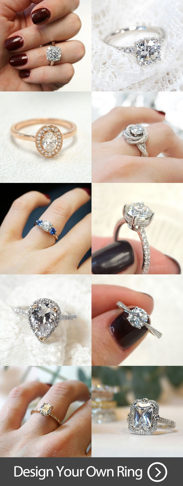 Tap for more info and discover 1,000+ unique engagement rings. Customize or design your own one of a kind ring!